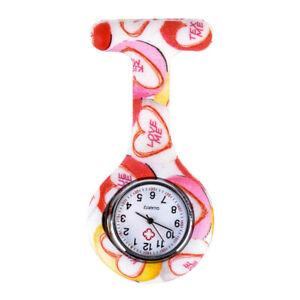 Medical Doctor Nurse Watch Hospital Vet Silicone Quartz Fob Watch + FREE BATTERY