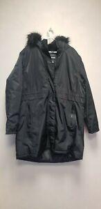 REGATTA WOMEN'S  Parka Coat with Faux Fur Trim Hood, BLACK, SIZE 22, NEW ##(T3)