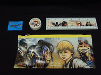 Star Wars Episode 1 Study Kit ~ Anakin ~ w/ Pouch, Ruler, Eraser, Sharpener