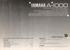 YAMAHA - A-1000 - Bedienungsanleitung Owner's Manual for amplifier - B7814