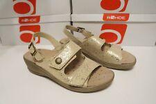 Rohde Damen Schuhe Sandale Herne 5755 Gr. 36 Kreide Wechselfußbett