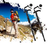 Pair 2 Trekking Walking Hiking Sticks Poles Alpenstock anti-shock 50-110cm Black