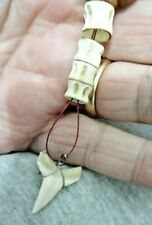 Rasta Necklace with shark Tooth and vertebrae