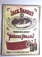 Old RARE Vintage Pub JACK DANIELS WHISKEY Professionally Framed Picture Sign Clu