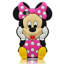 """Cartoon 3D Minnie Mouse Silicone Character Case Cover for IPhone 7 Plus 5.5"""" B/P"""