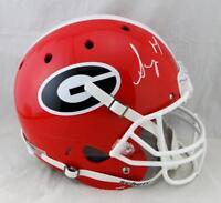 Sony Michel Autographed Georgia Bulldogs F/S Helmet- JSA W Auth *Silver