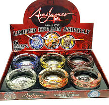 NEW Ami James Ink Ashtrays Nulite Limited Edition Tattoo Glass 6 Design Ash Tray