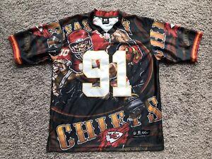 Men's NFL PLAYERS Kansas City Chiefs HALI #91 Football Jersey Men's Size 44 RARE