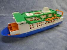 Vintage West German Brudor Toy Plastic 12-Inch Cruise Ship W/15-Inch Foldout