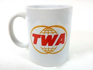 TWA Coffee Cup Mug Airlines A&P  Jet Pilot Aircraft Airways Fleet