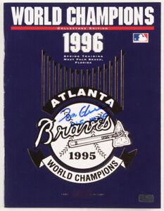 "Tom Glavine Signed LE 1996 Braves World Champions Program Inscribed ""W.S. MVP"""