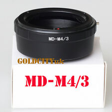 Minolta MD Lens to Micro 4/3 M43 M4/3 Mount Adapter G5 GX1 E-P5 OM-D MD-M4/3