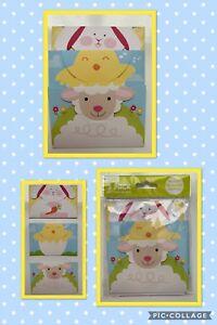 NIP Easter Bunny Lamb Duck  3-Pack GIFT CARD HOLDER ENVELOPE  Basket Stuffers