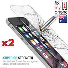 2 x Scratch Resist Tempered Glass Screen Protector Guard for iPhone 6+ / 6 Plus