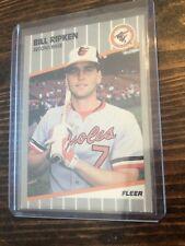 1989 Fleer Bill Ripken Black Box #616 Baltimore Orioles Baseball