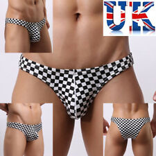 """Mens Sexy Black & White Check Briefs **To Fit 31""""-36""""**UK Seller**"""