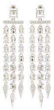 Zest Swarovski Crystal lungo triplo Goccia Chandelier Orecchini Piercing chiaro