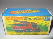 MATCHBOX SUPERFAST MB Empty Repro Box Only No.30 8-Wheel Crane