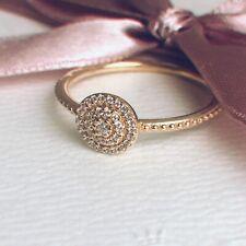 Genuine Unused Pandora 14ct Gold Radiant Elegance Ring 150184 Size 54