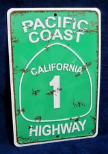 PACIFIC COAST HIGHWAY - *US MADE* Embossed Sign - Man Cave Garage Bar Wall Decor