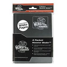 Monster Protector Album Binder - 4 Pocket Matte Black Album with White Pages