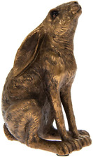 Leonardo Lesser and Pavey Moongazing Hare Sculpture Ornament in Bronze Resin
