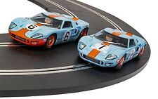 Scalextric C4041A  Ford GT40 1969 Gulf Twin Pack Triple Pack slot cars