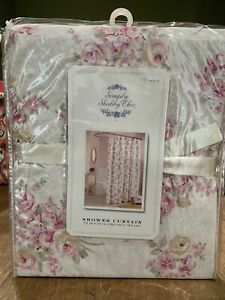 Rachel Ashwell Simply Shabby Chic Blush Beauty Shower Curtain Pink Cabbage Roses