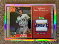 2002 Topps Archives Reserve Wade Boggs Game Used Jersey - Boston Red Sox