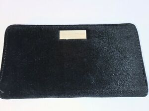 Adrienne Vittadini Studio Snap Front Zip Around RFID Protection Wallet Black NWT