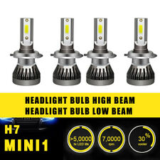 2 Pairs LED H7 Headlight Coversion Kit Bulb High Beam 97500LM 650W White 6000K