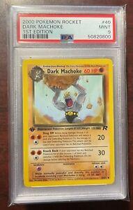2000 Pokemon Team Rocket 1st Edition Dark Machoke #40 PSA 9 MINT
