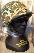 1/4 Gearbox Military Classics WWII Iwo Jima U.S. Marines Camouflaged M1 Helmet