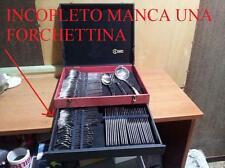 INCOMPLETO FORCHETTINA MANCANTE SERVIZIO POSATE 12 PERSONE ACCIAIO INOX 18/10 BM