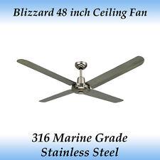 Blizzard 316 Marine Grade Stainless Steel 1200mm 48 inch Outdoor Ceiling Fan