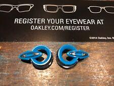 New Oakley Jawbreaker Sky Blue/Chrome O Icons/Icon Rings Only
