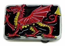 Welsh PATRIOT Fibbia della Cintura Red Dragon Galles Cymru Bandiera Inglese Prodotto autentico