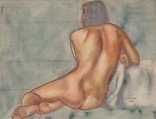 François-Xavier JOSSE (1910-1991) Sanguine & Pastel Nu Fauvisme Ecole de Paris
