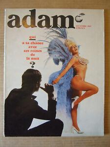 ADAM REVUE DE L'HOMME N° 307 DECEMBRE 1965. MAGAZINE MODE MASCULINE.