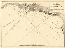 Plan of Alicante Bay. 'Plan de la Baie d'Alicante'. Spain. GAUTTIER 1851 map