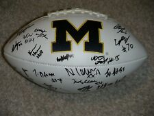 2019 MICHIGAN WOLVERINES TEAM signed Football  CHARBONNET HILL  MCCAFFREY