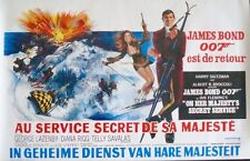 ON HER MAJESTY'S SECRET SERVICE JAMES BOND Belgian movie poster 1969 NM