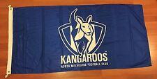 AFL NTH MELBOURNE KANGAROOS POLE FLAG 1800MM X 900MM OFFICIAL AFL BRAND NEW