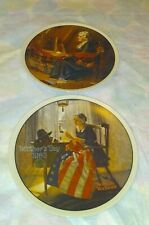 Knowles Mother's Day 1979 & 1980 Norman Rockwell Collector Plates ~Euc