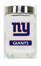 New York Giants Jar Glass Canister Large Container With Lid Duckhouse NFL