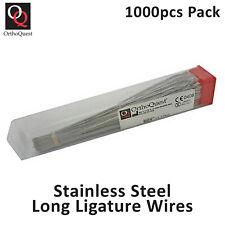 Dental Ss Long Ligature Wire Preformed Orthodontic 010 Pack Of 1000pcs