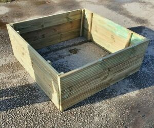 Garden Vegetable Decking Grow Bed Planter Raised Planting Bed Pressure Treated