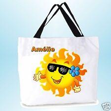 grand cabas sac shopping sac de plage  fond large personnalisé  prénom réf 01