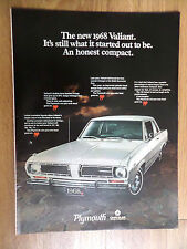 1968 Plymouth Valiant Ad It's Still Waht it started out to be