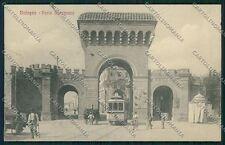 Bologna città Porta Saragozza Tram cartolina QQ8977